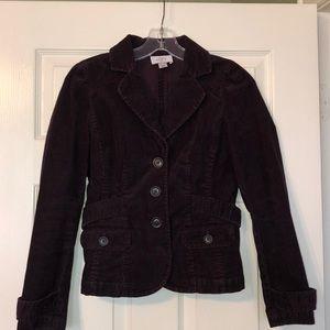 Never worn, cute Loft 2P plum corduroy blazer